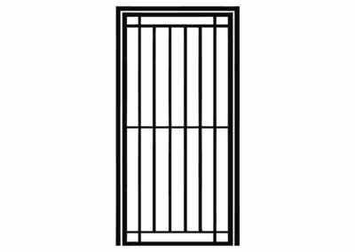 Эскиз решетчатой двери № 1