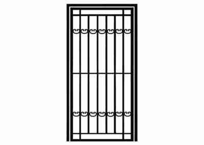 Эскиз решетчатой двери № 10