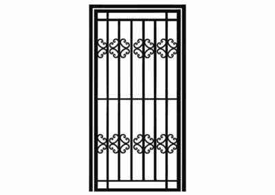 Эскиз решетчатой двери № 11