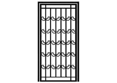 Эскиз решетчатой двери № 12