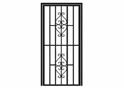 Эскиз решетчатой двери № 2