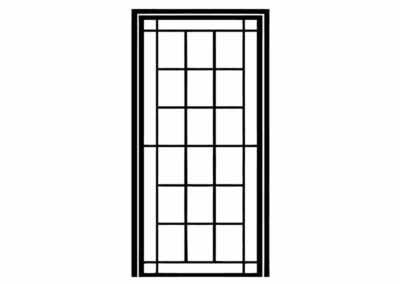 Эскиз решетчатой двери № 3