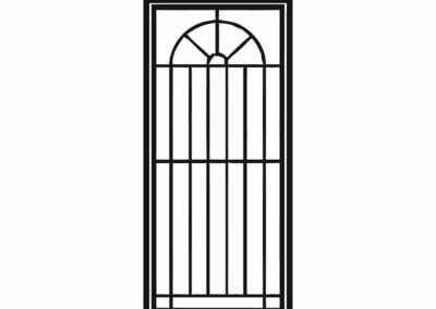 Эскиз решетчатой двери № 4
