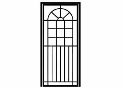 Эскиз решетчатой двери № 5