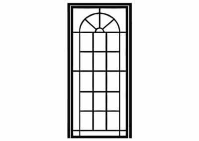 Эскиз решетчатой двери № 6