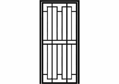Эскиз решетчатой двери № 8