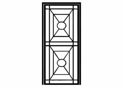 Эскиз решетчатой двери № 9