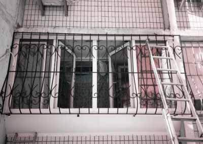Луковичная решетка на 2 этаж