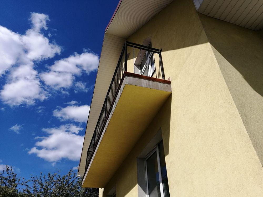 Перила на балкон в стиле Лофт-2