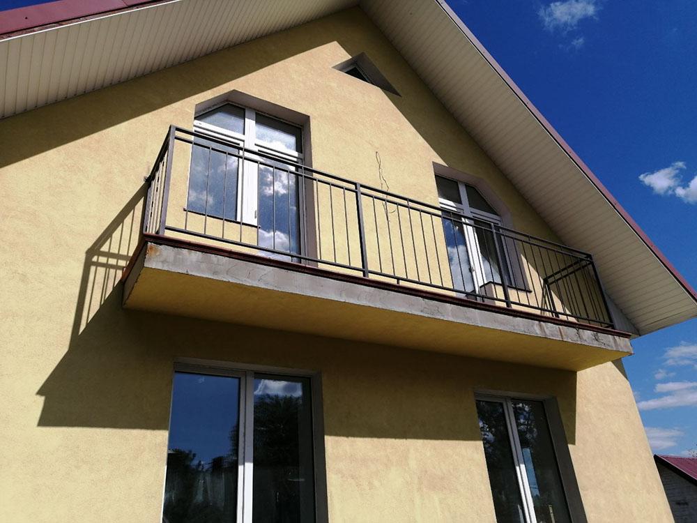 Перила на балкон в стиле Лофт-3