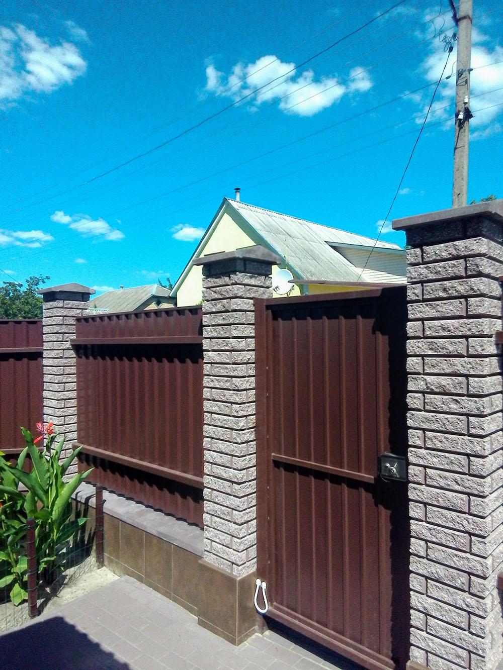 Забор и калитка из профнастила