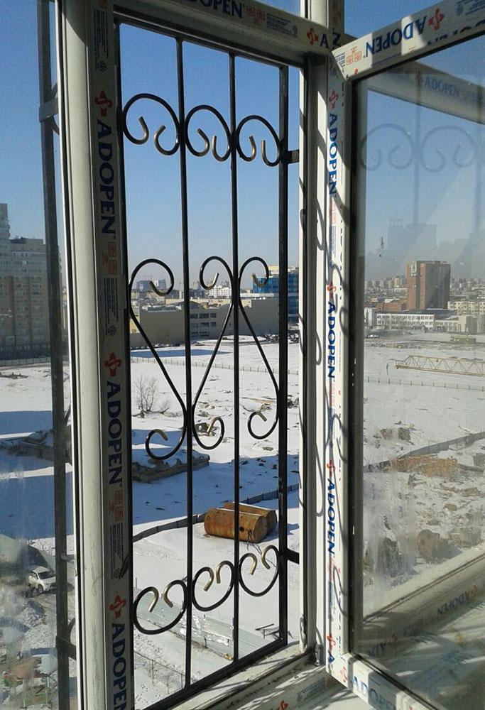 Решетки на открывающуюся часть окна от падения детей