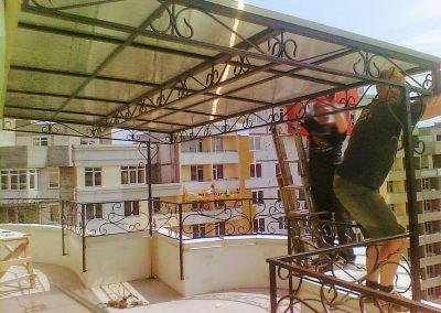 Козырек из поликарбоната для 25 этажа от 13.09.20 (артикул 130920)