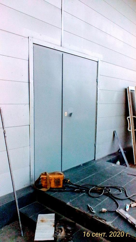 Стальные двери для складского помещения