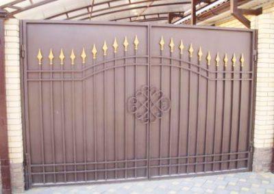 Изготовление металлических ворот с ковкой от 03.11.20 (артикул 031120)