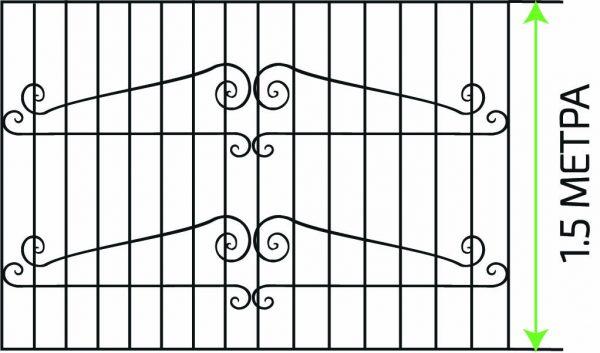 190621-металлическая-решетка на окно 1,5 м