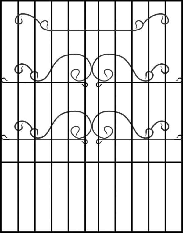 Металлические решетки в аэропорт Жуляны - эскиз решетки в пол