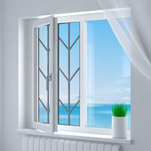 Эскиз решетки на окно для защиты от выпадения детей 5