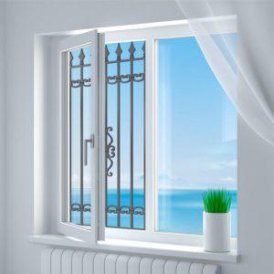 Эскиз решетки от выпадения детей из окна № 6
