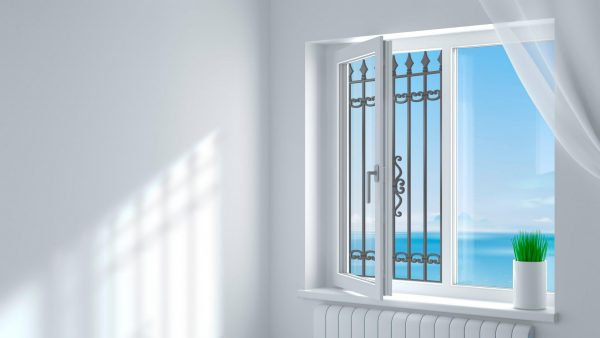 Эскиз решетки на окно от выпадения детей № 6