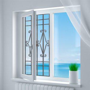 Эскиз решеток на окна для защиты детей от выпадения № 7
