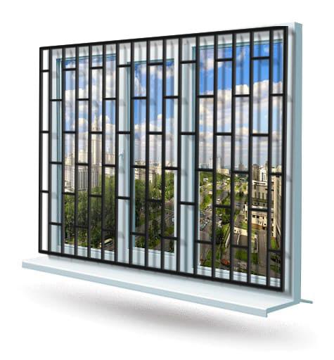 Эскиз решетки на окно № 11