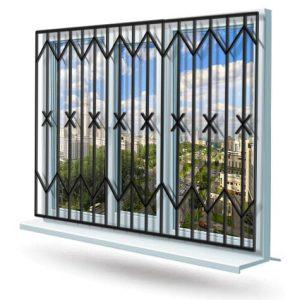 Эскиз решетки на окно № 13
