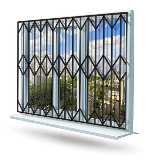 Эскиз решетки на окно № 14