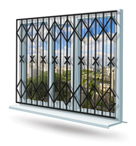 Эскиз решетки на окно № 15