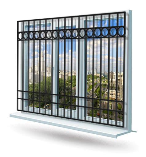 Эскиз решетки на окно № 16