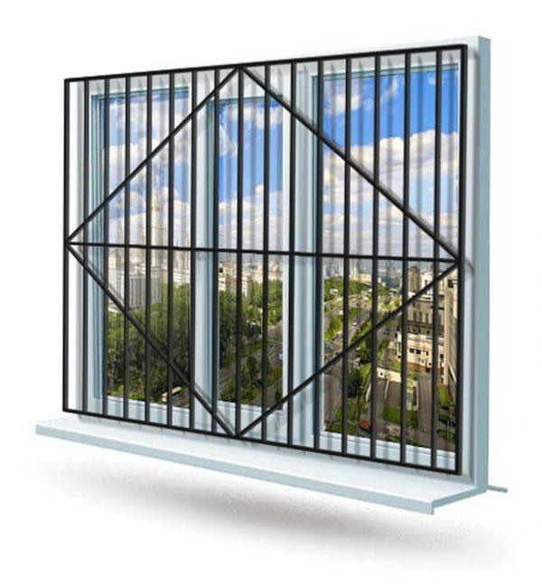 Эскиз решетки на окно № 4