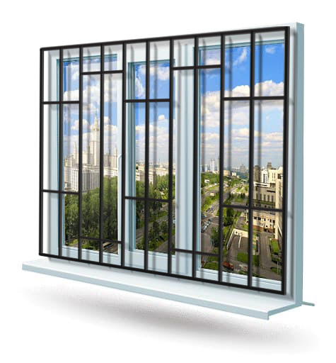 Эскиз решетки на окно № 9