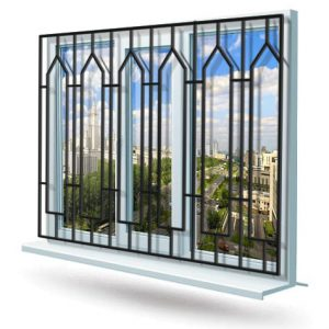Эскиз решетки на окно № 19
