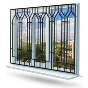 Эскиз решетки на окно № 20